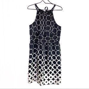 White House Black Market 100% Silk Halter Dress 12